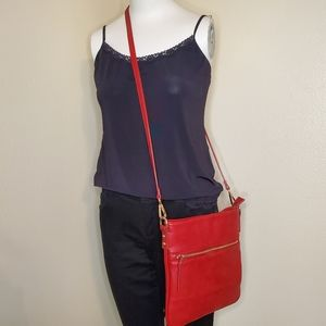 Charming Charlie Cross Over Red Purse